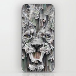 Lion in the night iPhone Skin