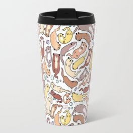Adorable Otter Swirl Travel Mug
