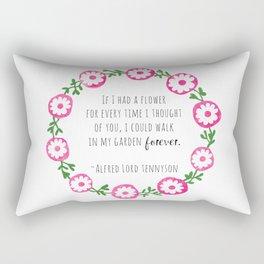 Walk In Your Garden Forever Rectangular Pillow