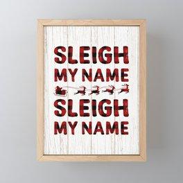 Sleigh my Name Buffalo Plaid Framed Mini Art Print