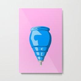 Blue Spinning top Metal Print