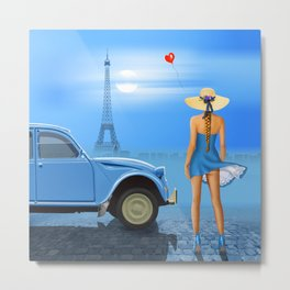 French blue Metal Print