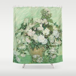 Vincent van Gogh - Roses Shower Curtain