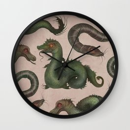 Sea Serpents Wall Clock
