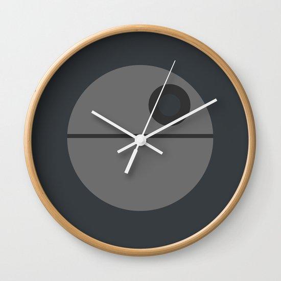 Star Wars Minimalism - Death Star Wall Clock