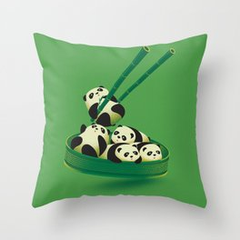 Panda Dumpling Throw Pillow