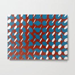 elipse grid pattern_pigeon,red Metal Print