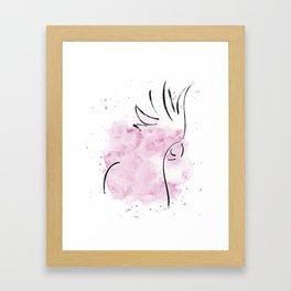 Cockatoo Abstract Brush - Pink Framed Art Print
