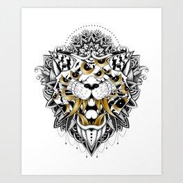 Gold Eyed Tiger Art Print