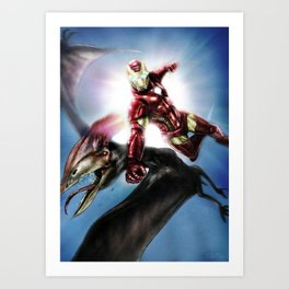 Pterodecked in the face Art Print