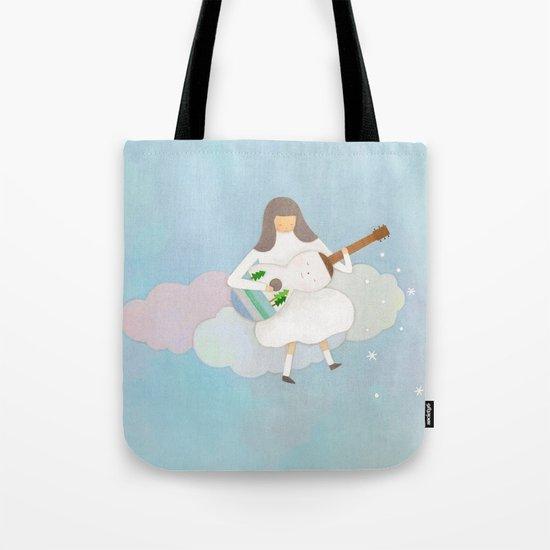 Winter play Tote Bag