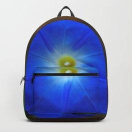 Blue, Heavenly Blue morning glory Backpack