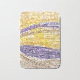 Sunset Lightroom Colored Pencils Bath Mat