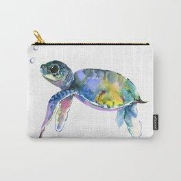 Sea Turtle, children artwork Illustration Carry-All Pouch