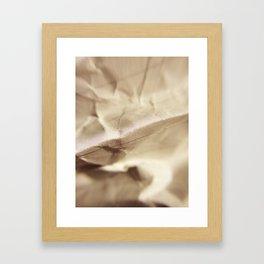Crumples Paper - Folds - Macro Photography Framed Art Print