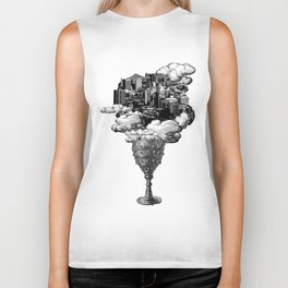 city of cups Biker Tank