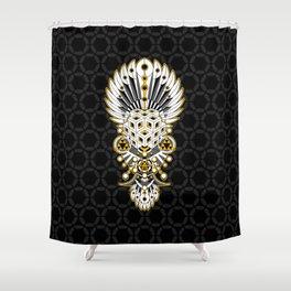 Meta Mask Shower Curtain