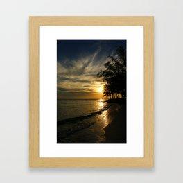 A Perfect Days End Framed Art Print
