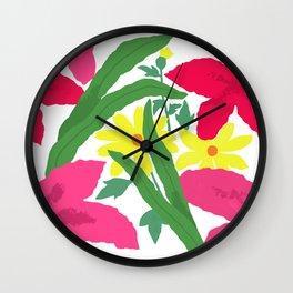 Floral Chorus1  Wall Clock