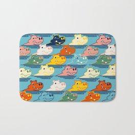 Happy Hippo Family Bath Mat