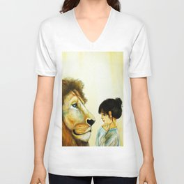Le lion Unisex V-Neck