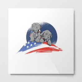 AMERICAN DOG Metal Print