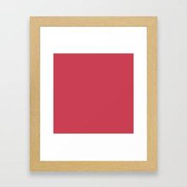 Brick Red Framed Art Print