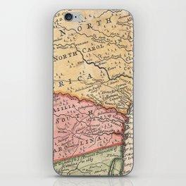 Vintage Map of The Carolinas (1746) iPhone Skin