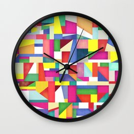 Colorful grid design Wall Clock