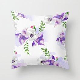 Watercolor Florals #society6 #decor #buyart Throw Pillow