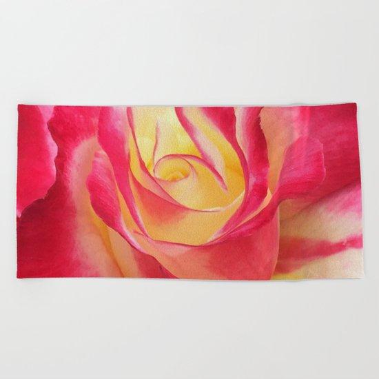 Summer Rose Untouched Beach Towel