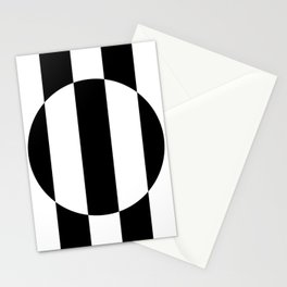 Op Art Striped Circle Stationery Cards