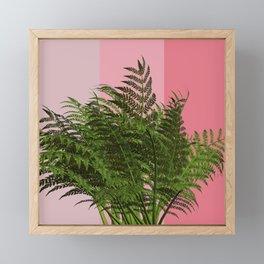 Ferny pink vibes Framed Mini Art Print