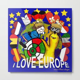 Monsieur Jac & Lily love Europe Metal Print