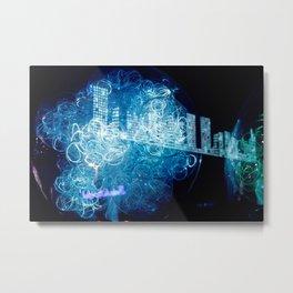 """""""Blauen lichter der stadt"""" Metal Print"""