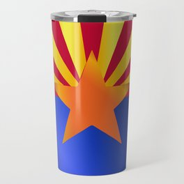 Arizona State Flag Gloss Travel Mug