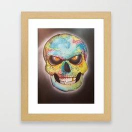 Mr. skull himself Framed Art Print