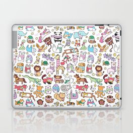 Winter Animals with Scarves Doodle Laptop & iPad Skin