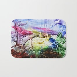 abstract composition of red and blue colours . artwork Bath Mat