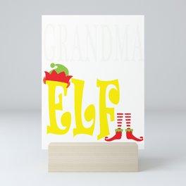 grandma elf, christmas, christmas gift, xmas, xmas gift, elf gift Mini Art Print