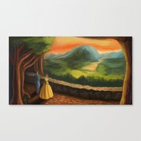 carmilla Canvas Prints featuring Scene from Carmilla by Nick Helton