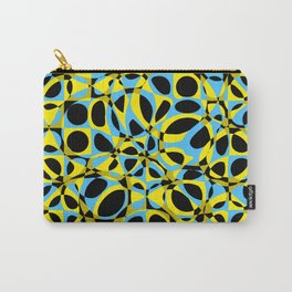 yellow blue circle pattern Carry-All Pouch