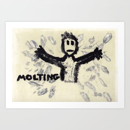 Molting Art Print