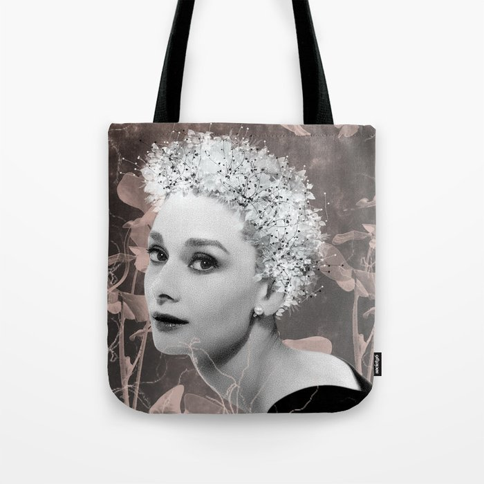 Audrey in White Tote Bag