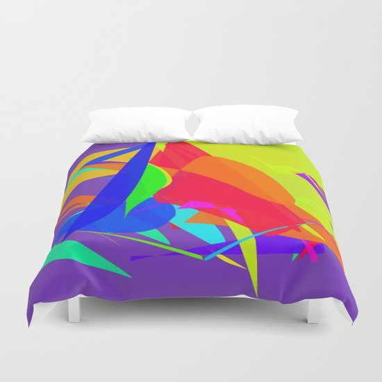 Colourful shapes Duvet Cover