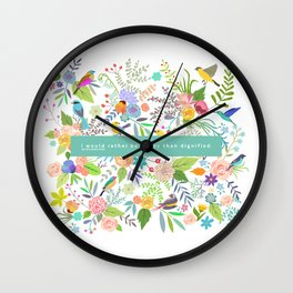 Jane Eyre - I Would Rather Be Happy Than Dignified Wall Clock