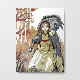 Donkey Skin Metal Print