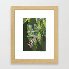 Bird and Squirrel on the Edge! Framed Art Print