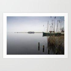 The silence of the Lake Art Print
