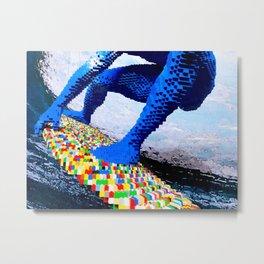 Leggo surfing! Metal Print
